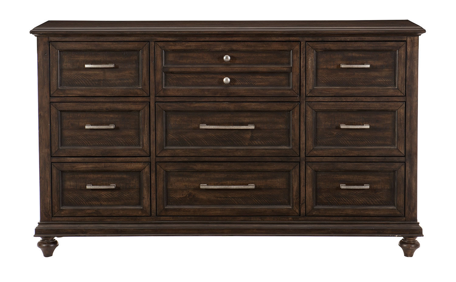 Homelegance Cardano Dresser - Driftwood Charcoal over Acacia Solids and Veneers