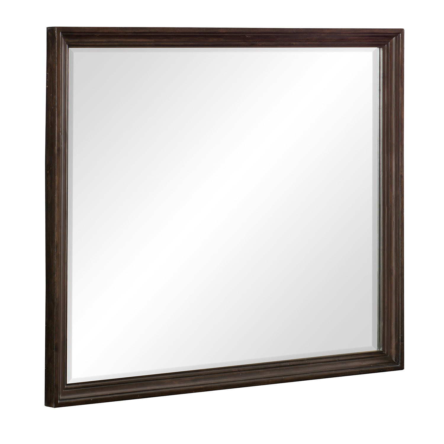 Homelegance Cardano Mirror - Driftwood Charcoal over Acacia Solids and Veneers