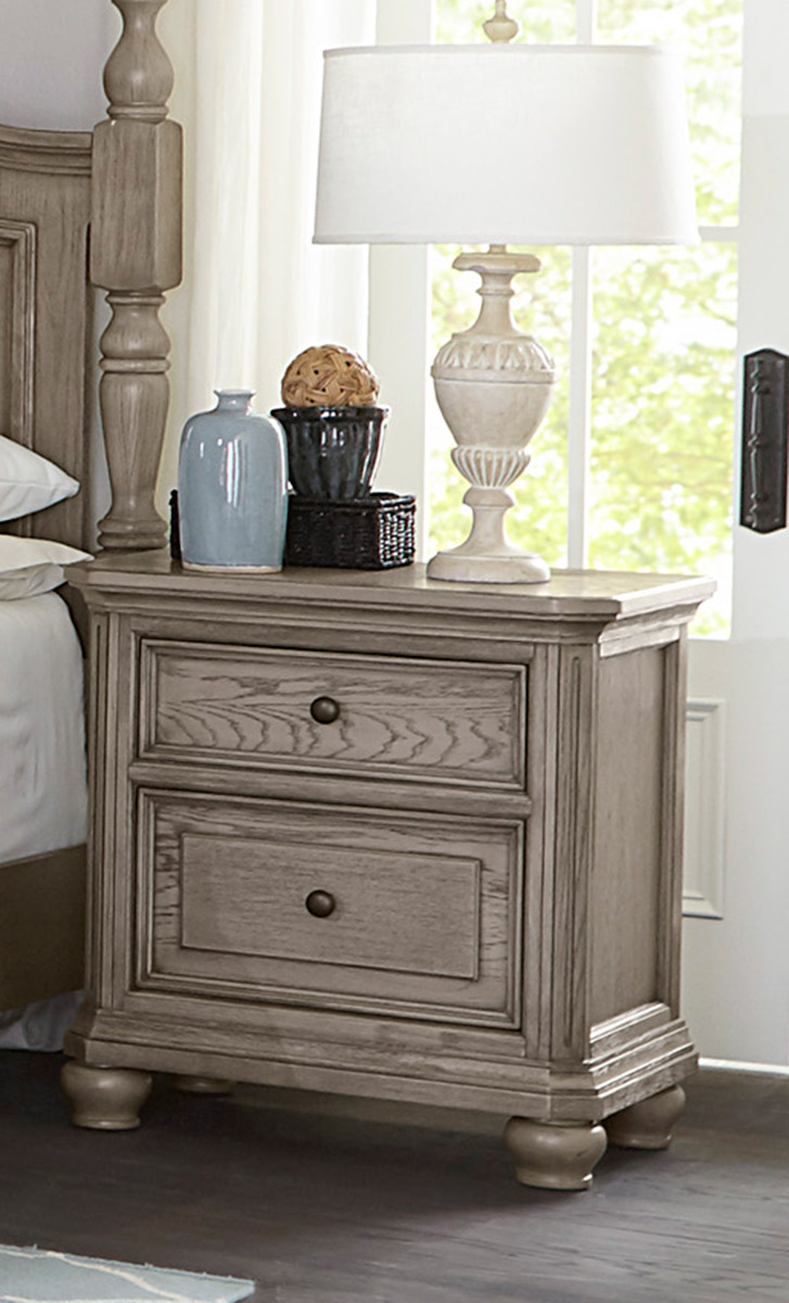 Homelegance Lavonia Night Stand - Wire-Brushed