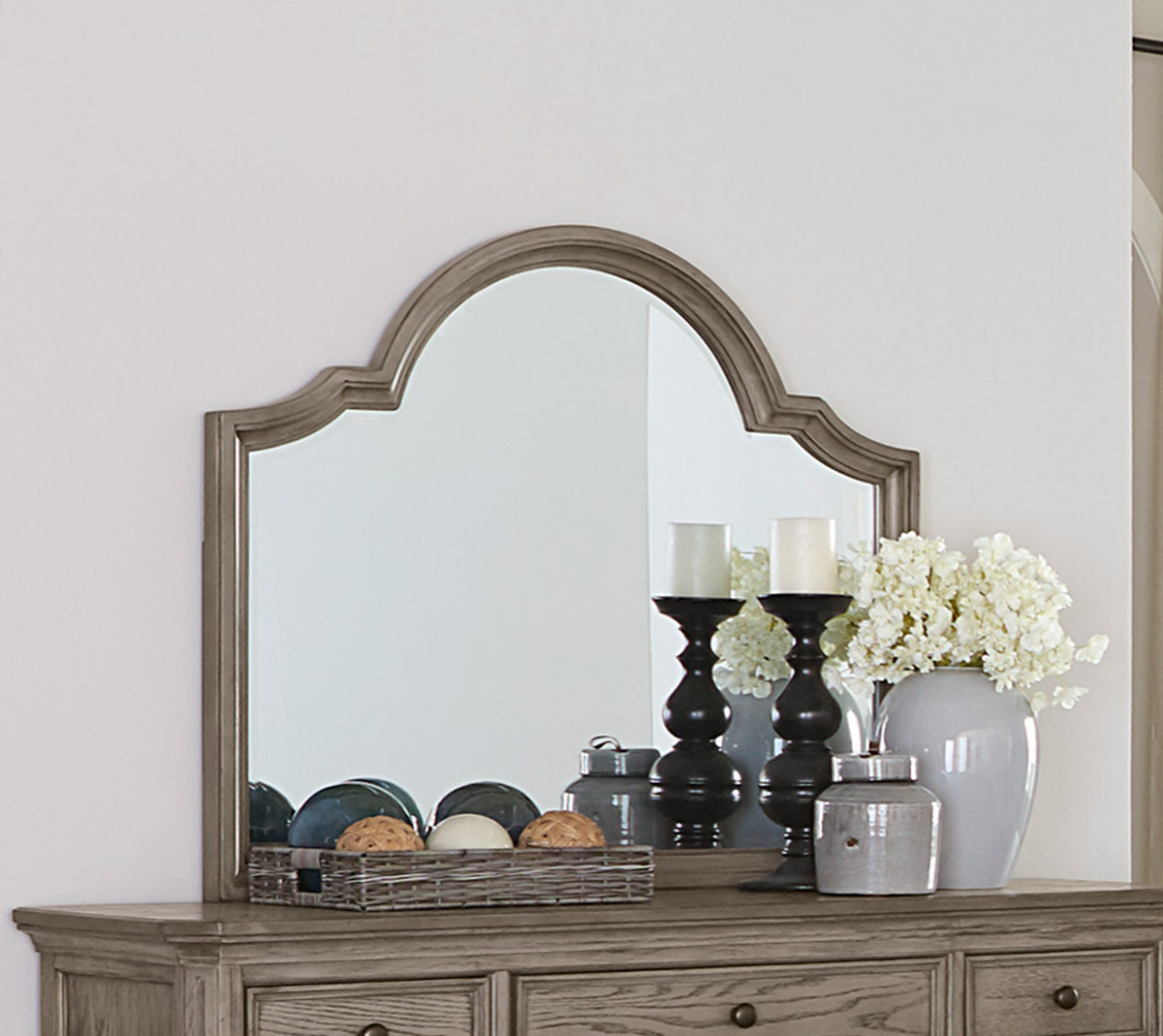 Homelegance Lavonia Mirror - Wire-Brushed