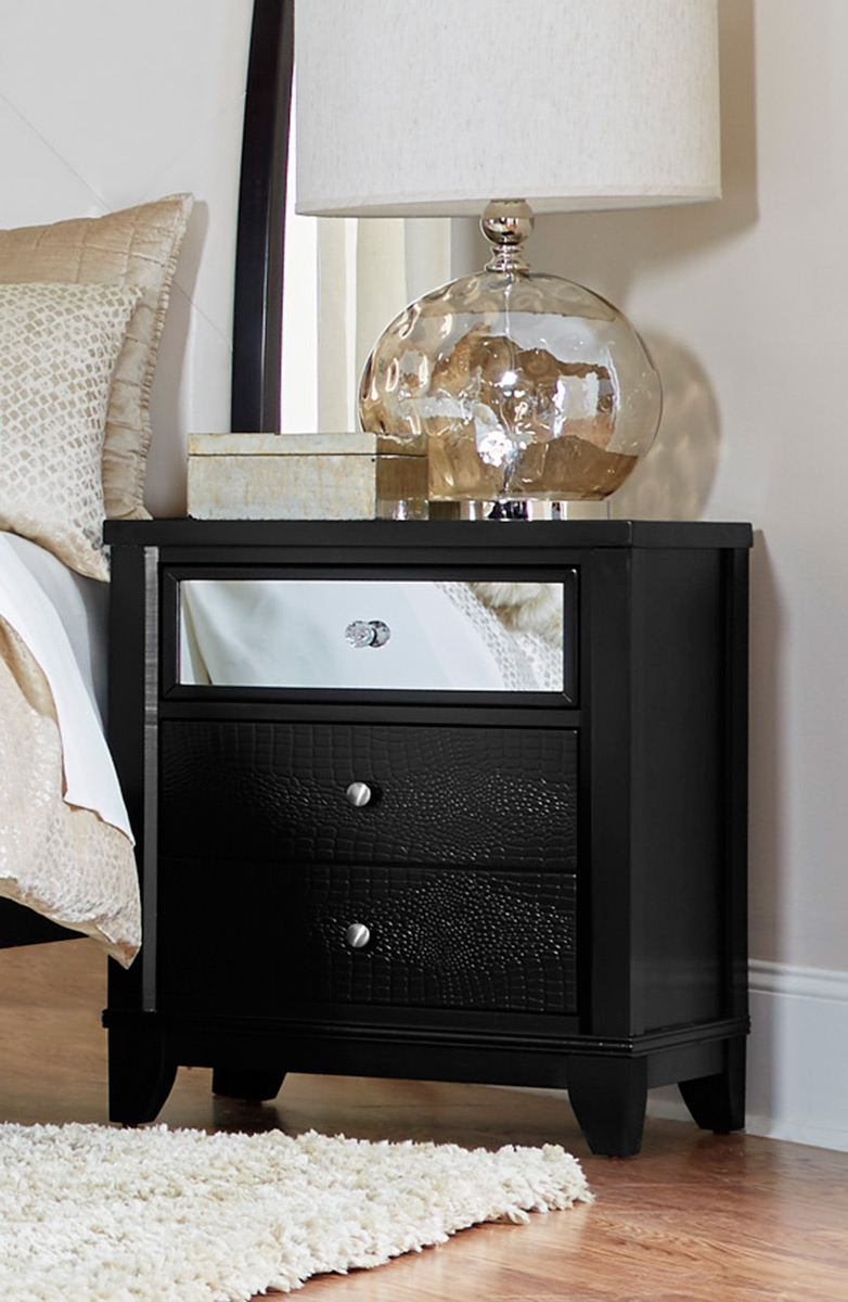 Homelegance Odelia Night Stand - Black