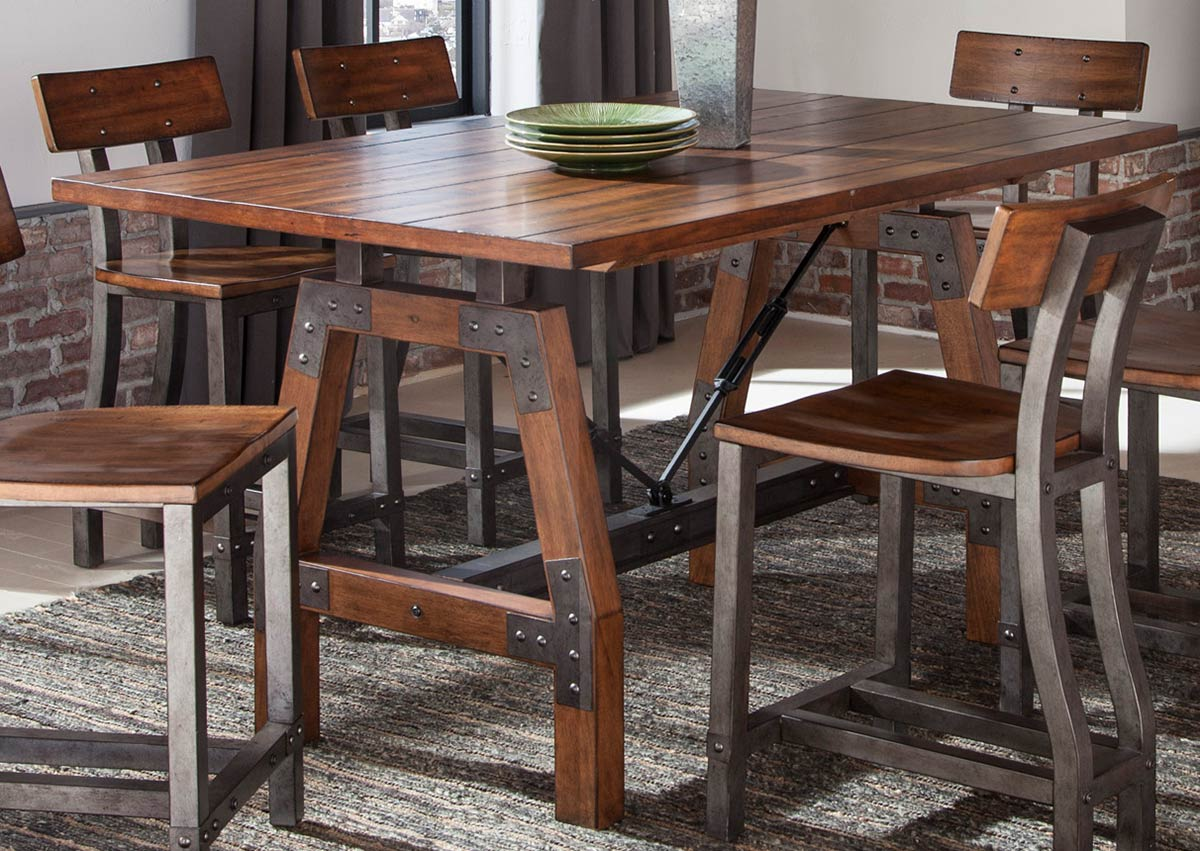 Homelegance Holverson Counter Height Table - Rustic Brown