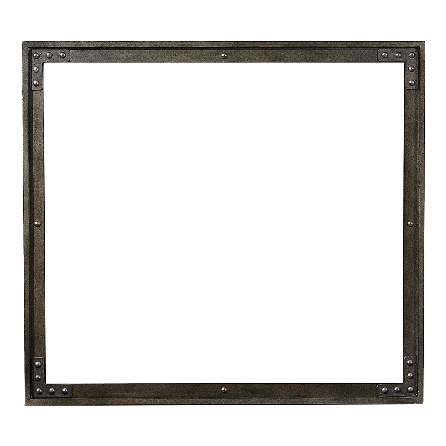 Homelegance Holverson Mirror - Rustic Brown Milk Crate Finish