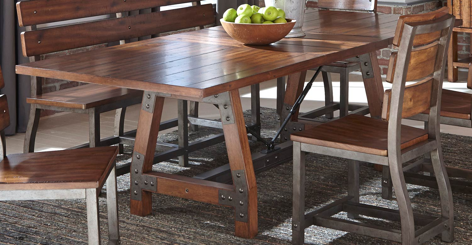 Homelegance Holverson Dining Table - Rustic Brown