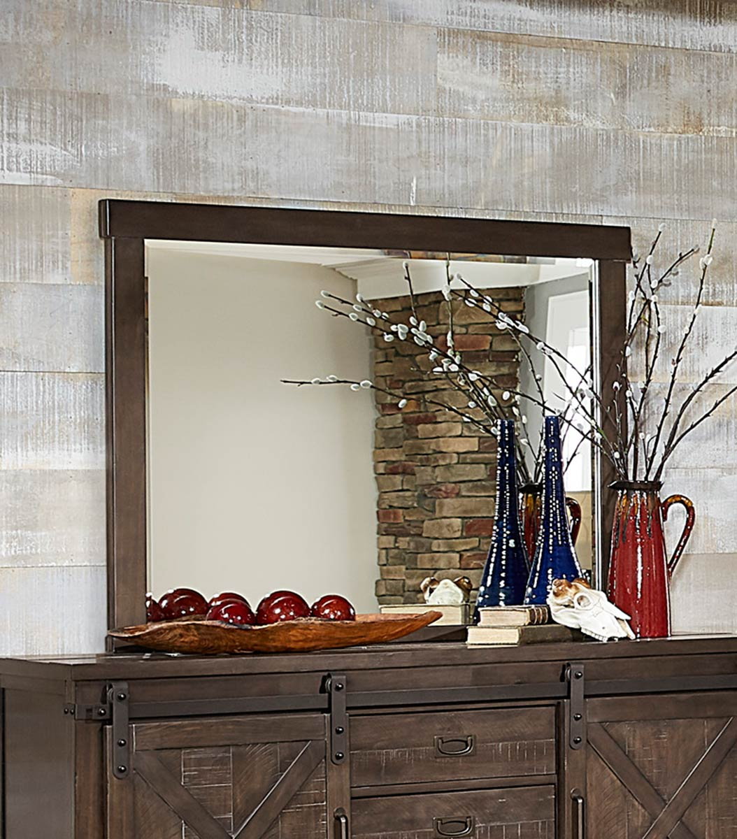 Homelegance Hill Creek Mirror - Rustic Brown