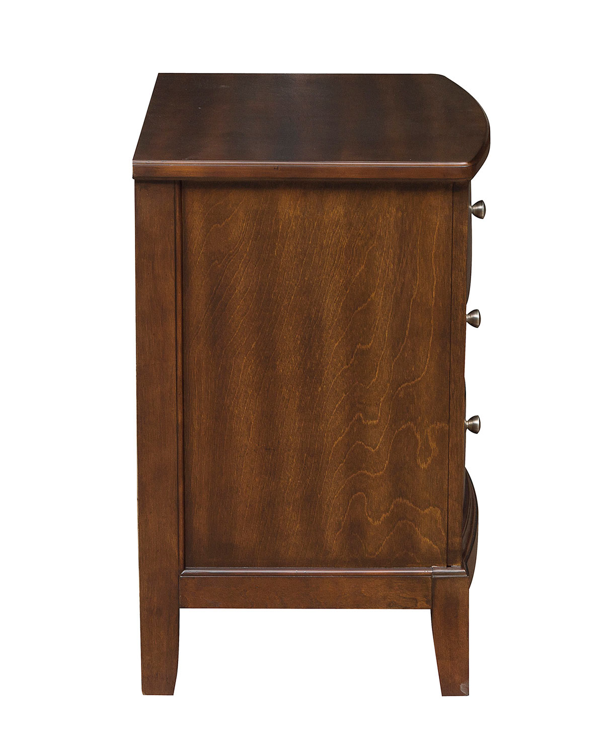 Homelegance Cotterill Night Stand - Cherry over Birch Veneer