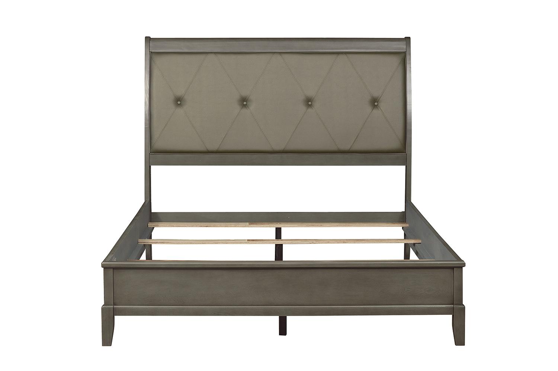 Homelegance Cotterill Bed - Gray Finish over Birch Veneer