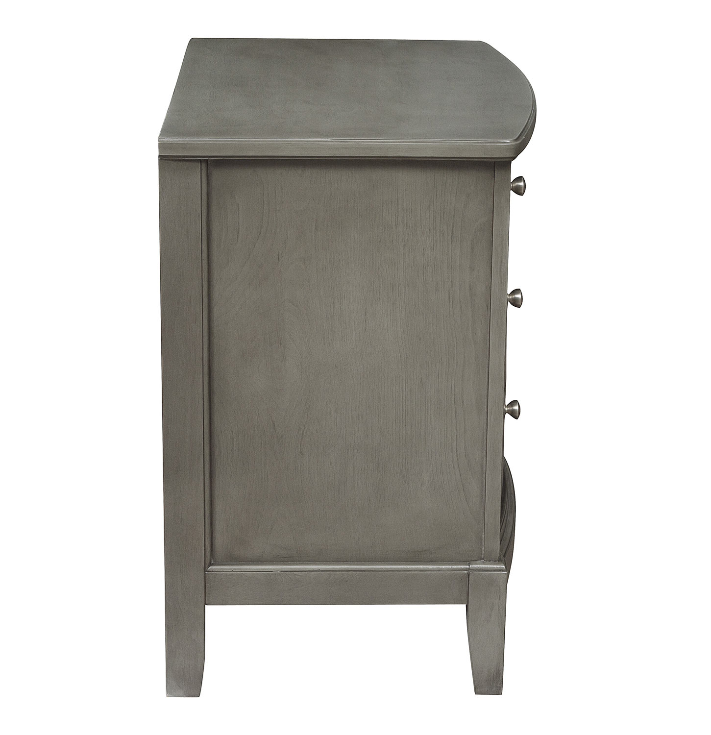 Homelegance Cotterill Night Stand - Gray Finish over Birch Veneer