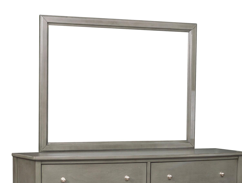 Homelegance Cotterill Mirror - Gray Finish over Birch Veneer