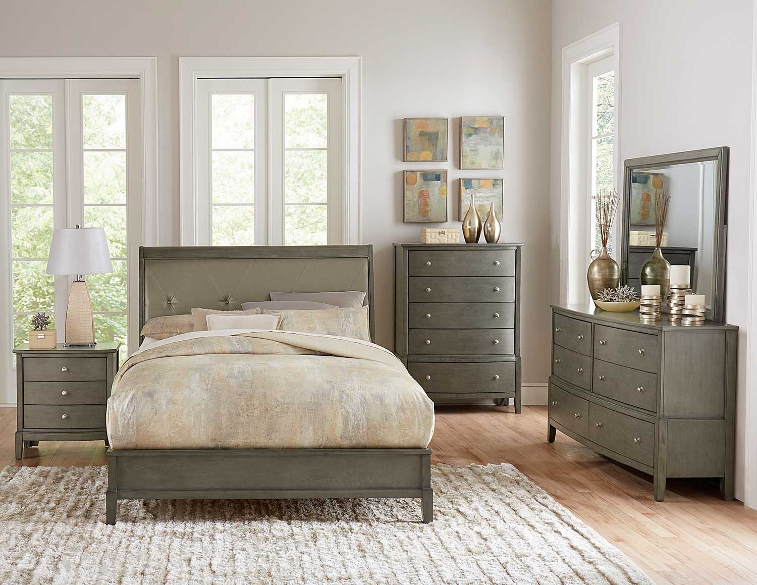 Homelegance Cotterill Bedroom Set - Gray Finish over Birch Veneer