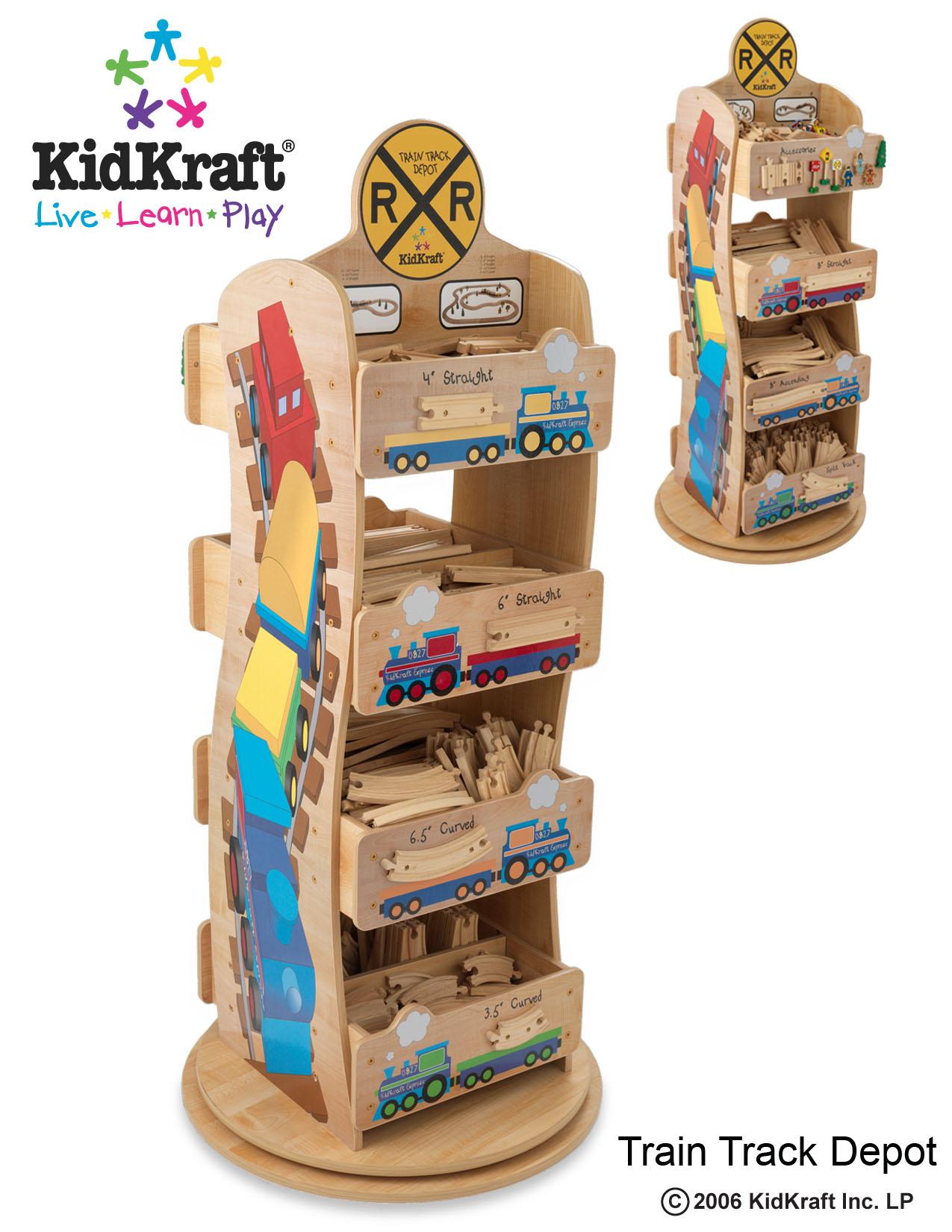 KidKraft Train Track Rack
