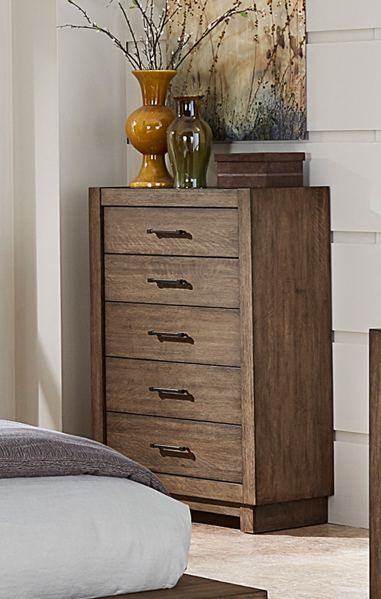 Homelegance Korlan Chest - Brown Oak