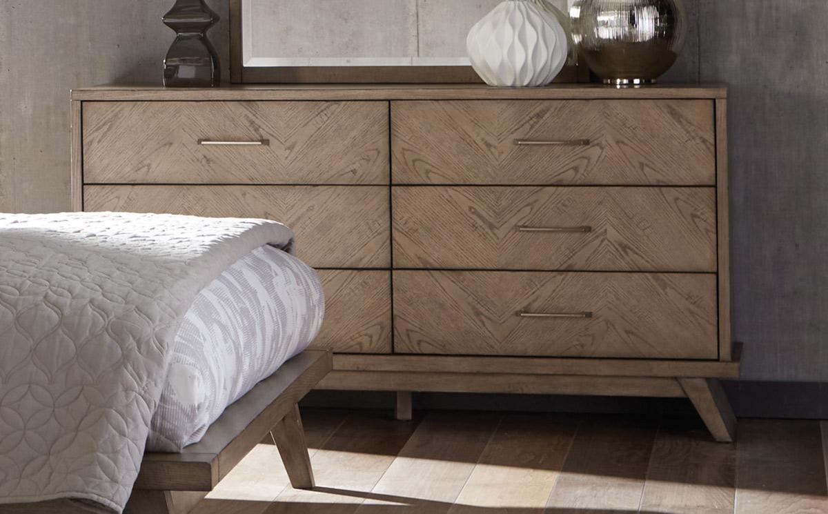Homelegance Liatris Dresser - Acacia Veneer with Gray Undertone