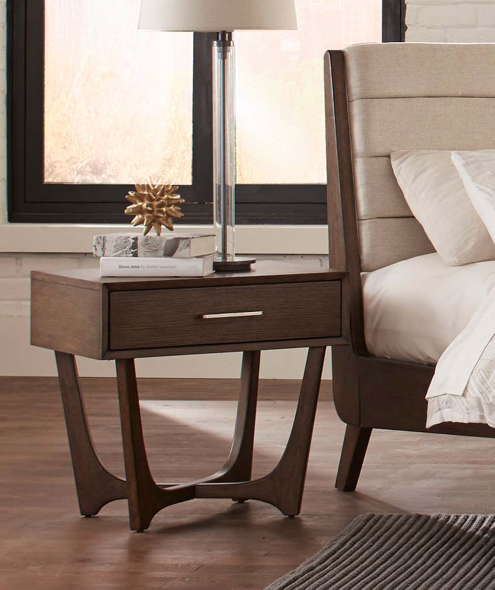Homelegance Ruote Night Stand - Brown-Gray