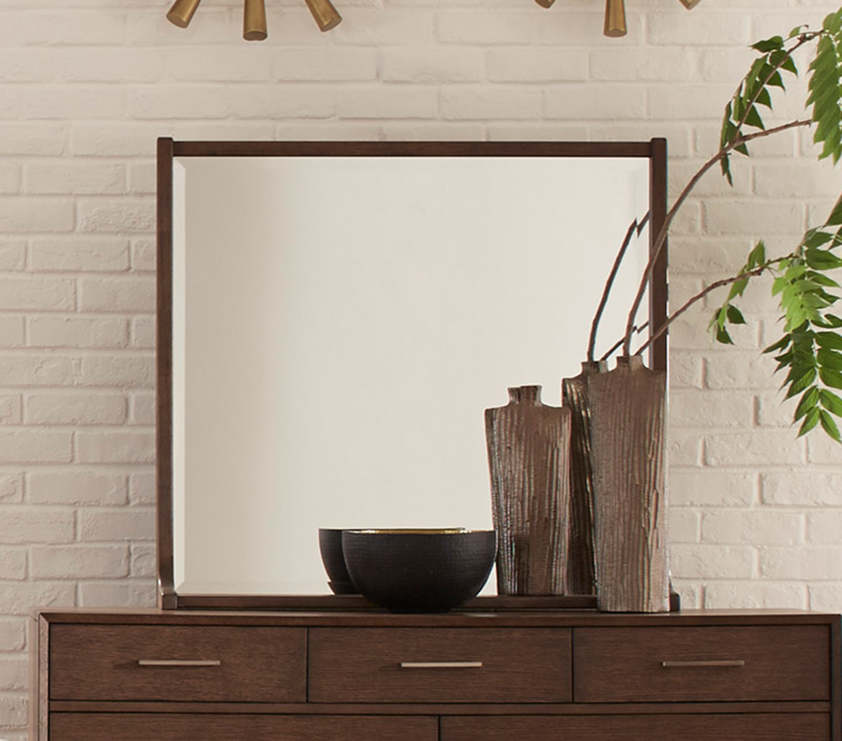 Homelegance Ruote Mirror - Brown-Gray