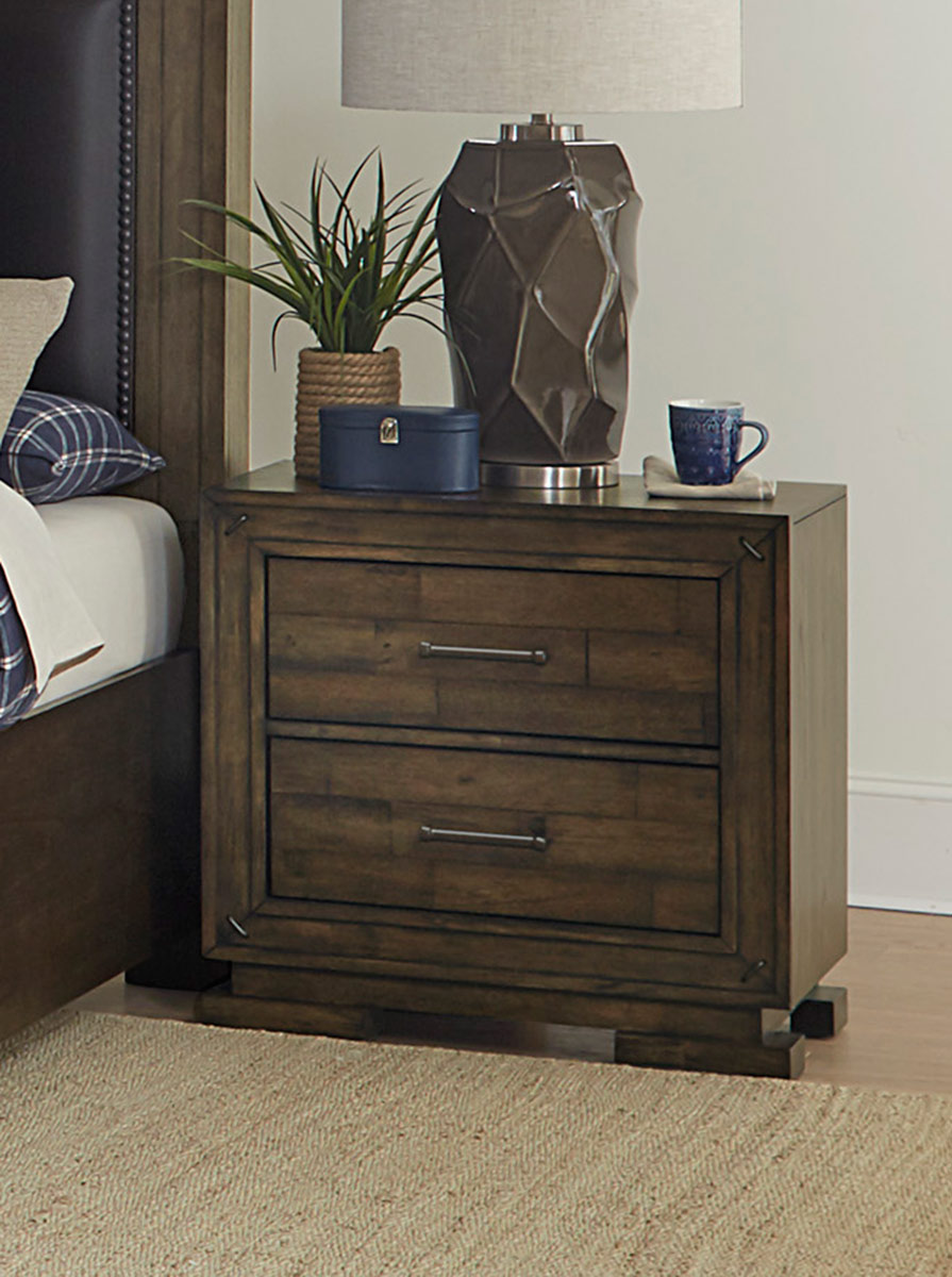 Homelegance Griffon Night Stand - Antique Brown
