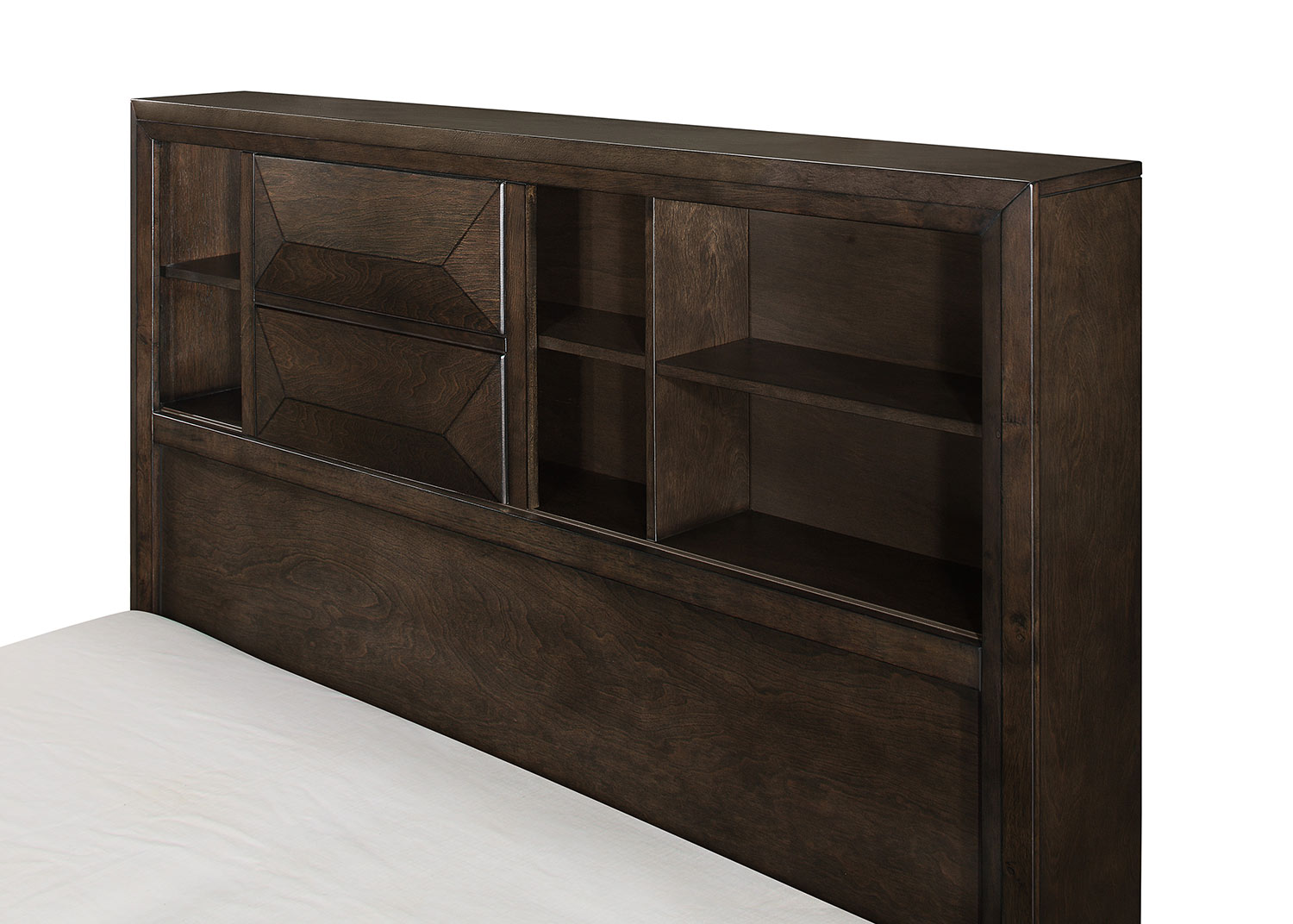 Homelegance Chesky Platform Storage Bed - Warm Espresso