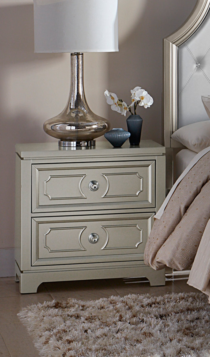 Homelegance Libretto Night Stand - Silver