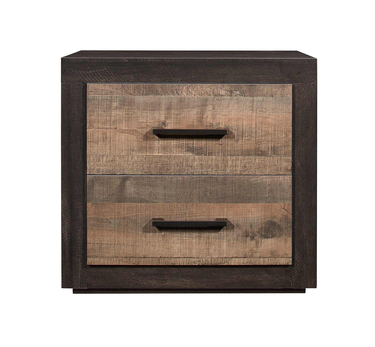 Homelegance Miter Night Stand - Mahogany & Ebony