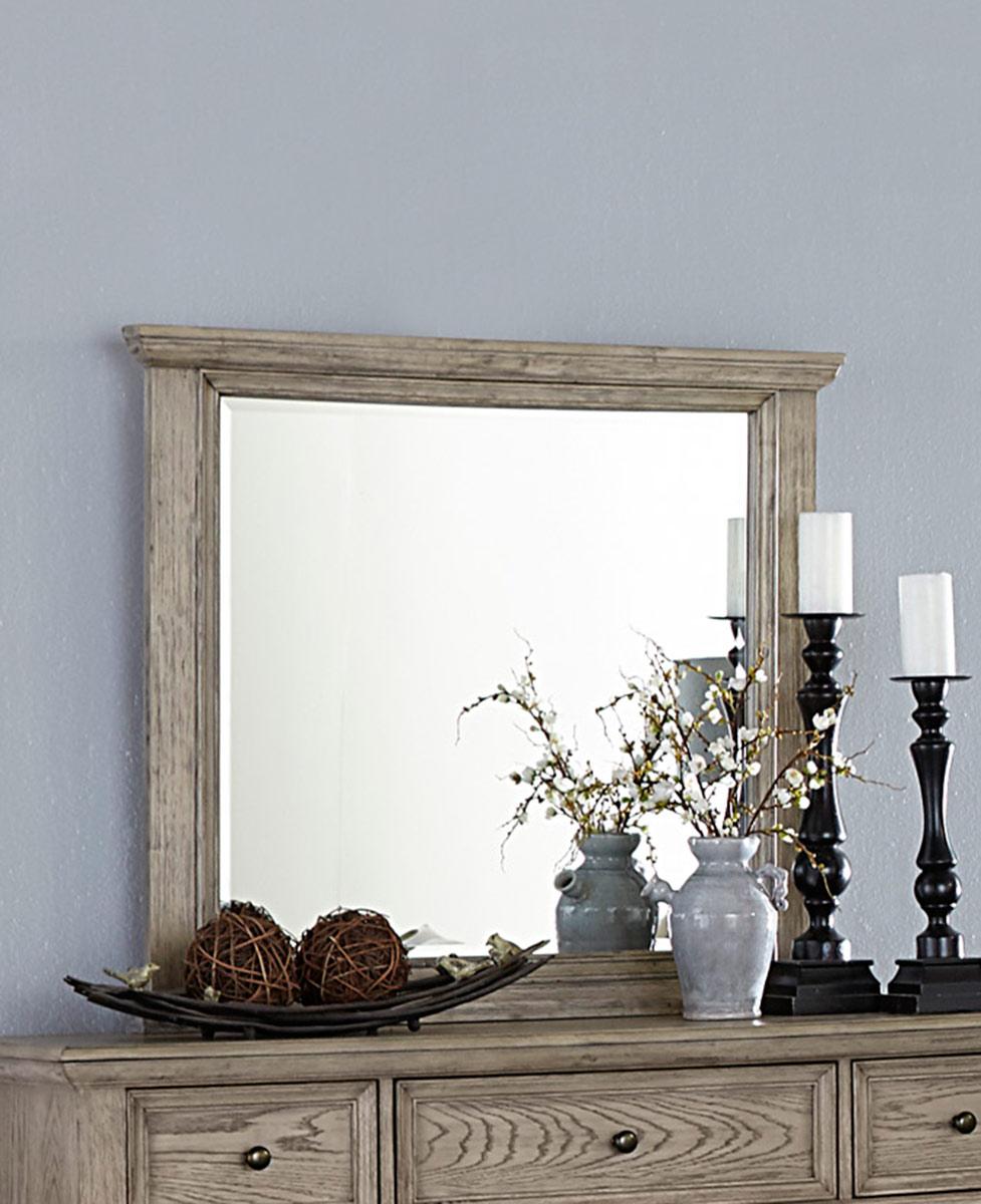 Homelegance Barbour Mirror - Whitewash Finish over Oak Veneers