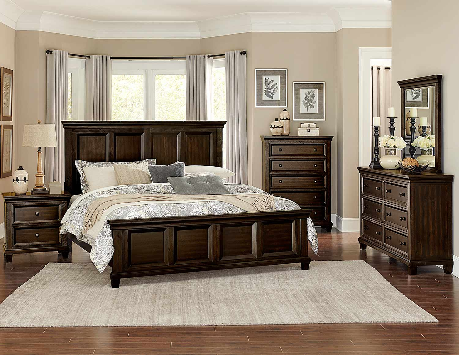 Homelegance Birman Panel Bedroom Set - Dark Espresso