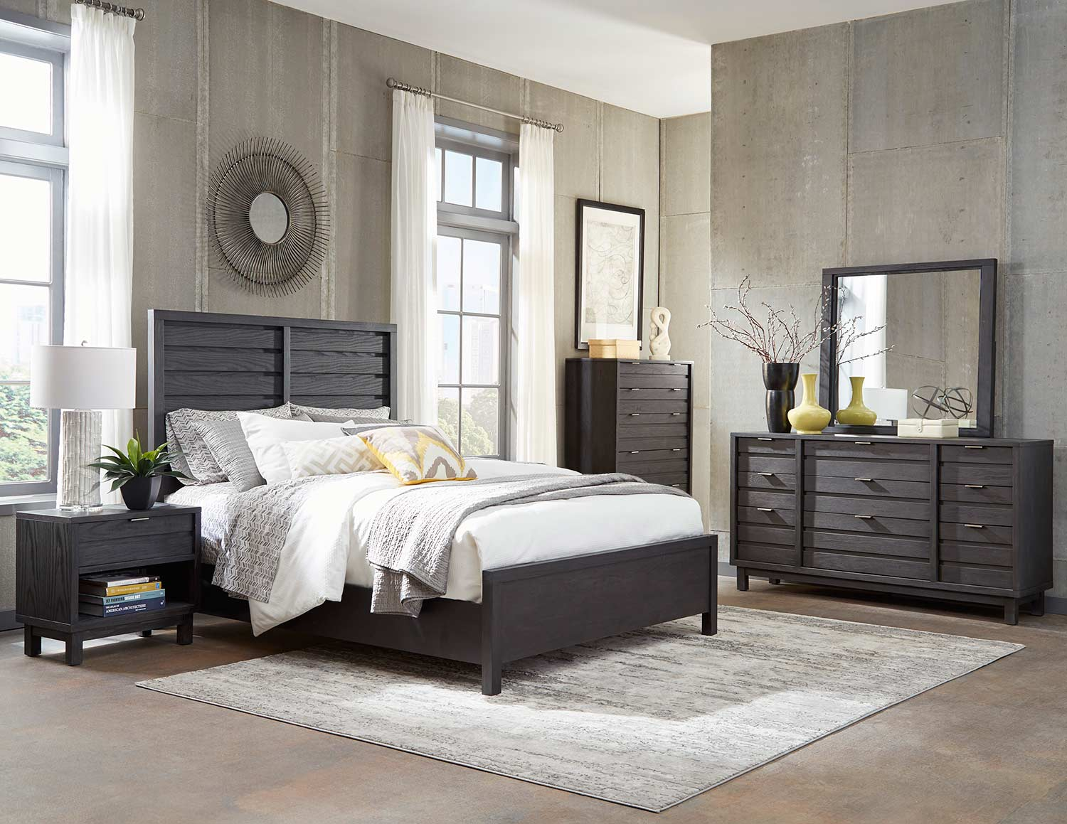 Homelegance Robindell Bedroom Set - Ebony