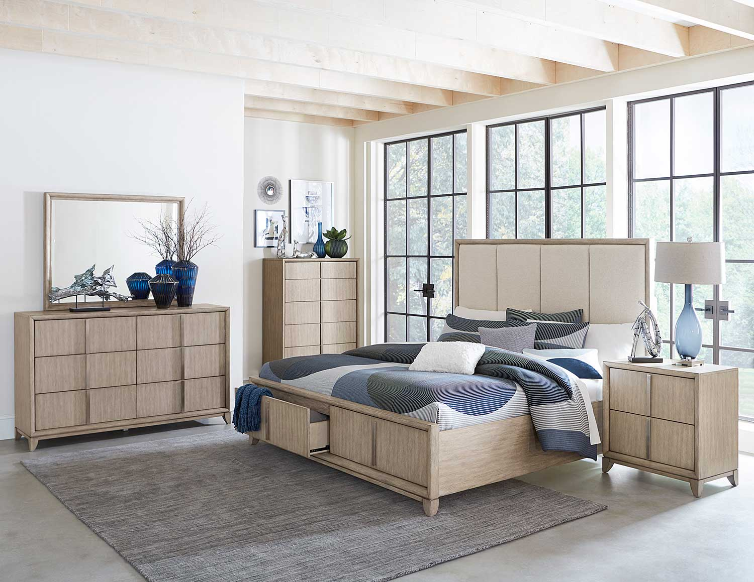 Homelegance McKewen Bedroom Set - Light Gray