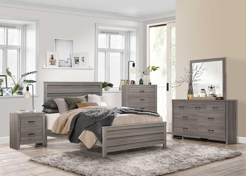 Homelegance Waldorf Bedroom Set - Gray Tone