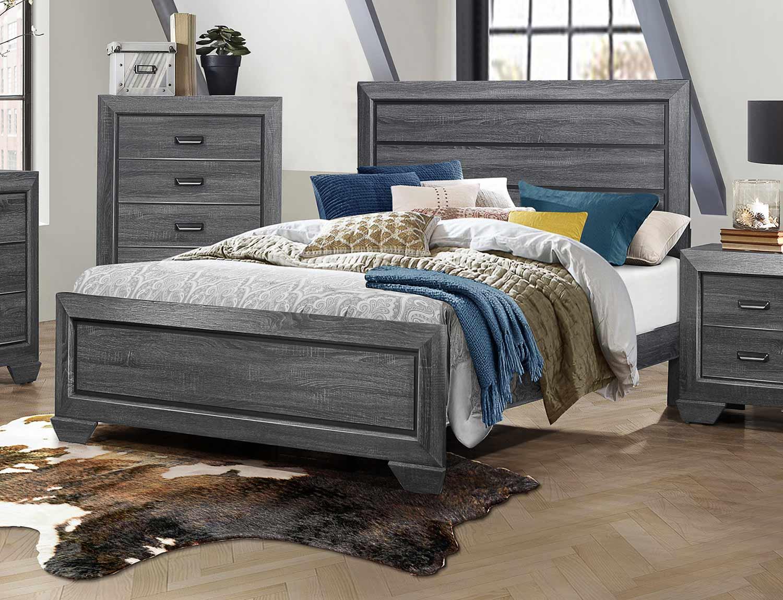 Homelegance Beechnut Bed - Gray