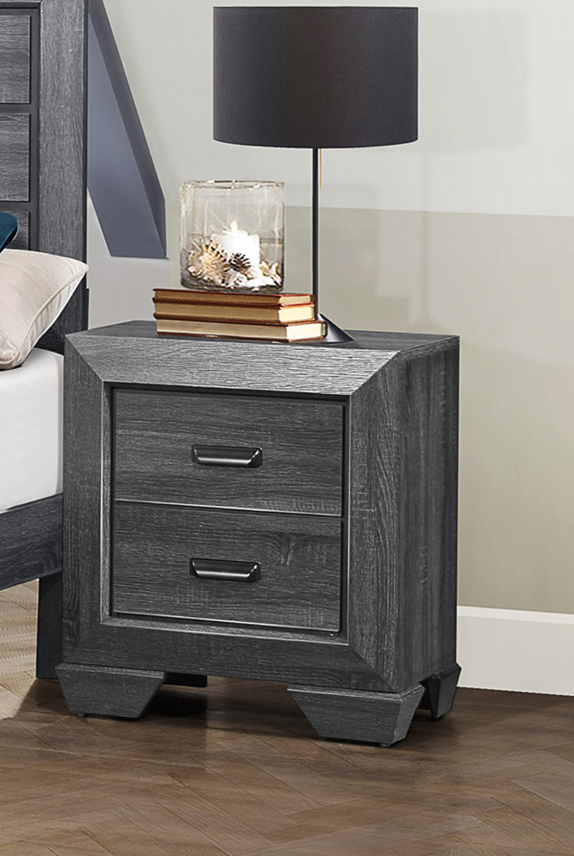 Homelegance Beechnut Night Stand - Gray