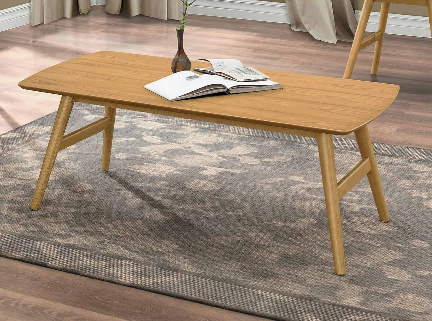 Homelegance Anika Cocktail/Coffee Table - Light Ash