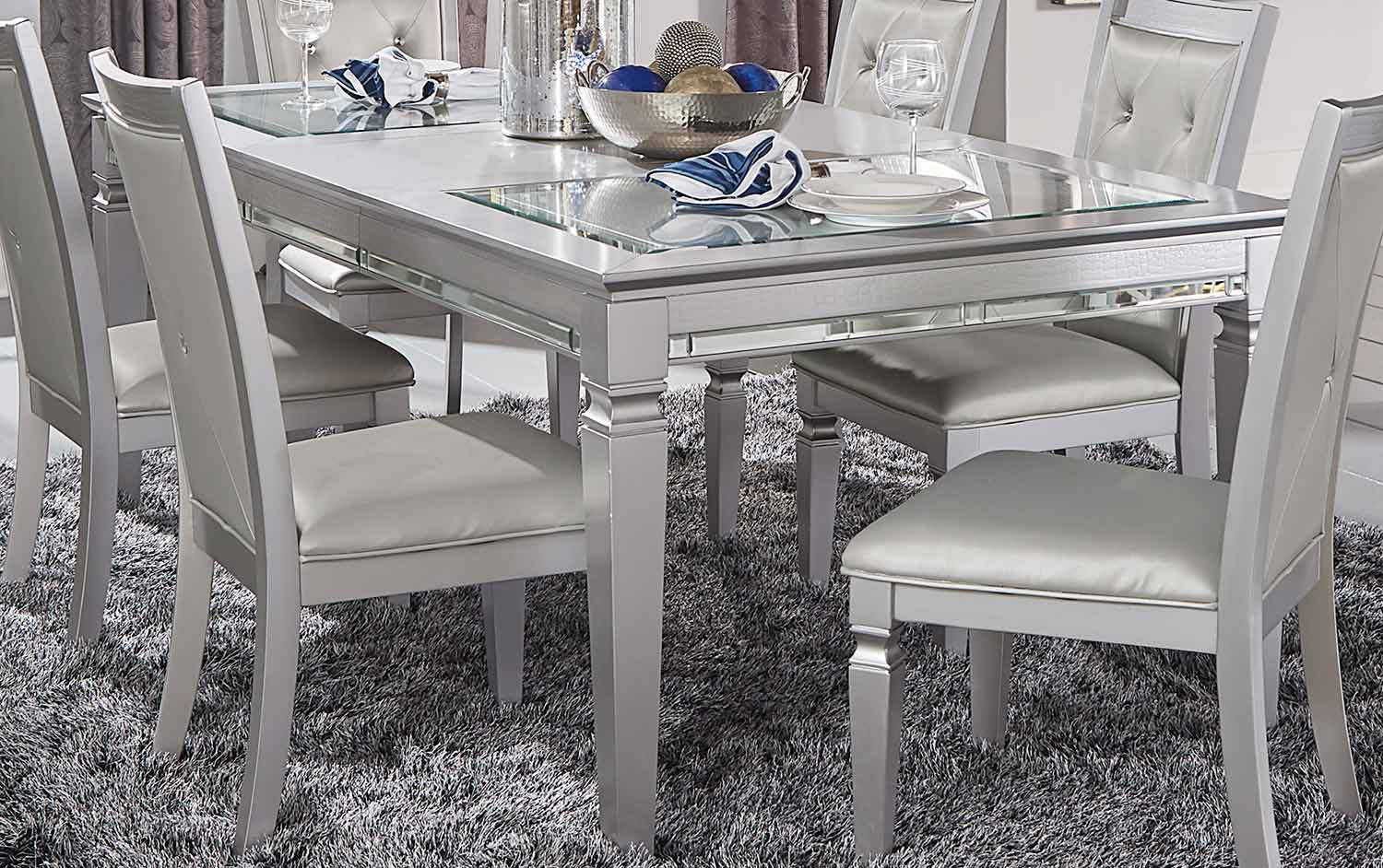 Homelegance Allura Dining Table - Silver