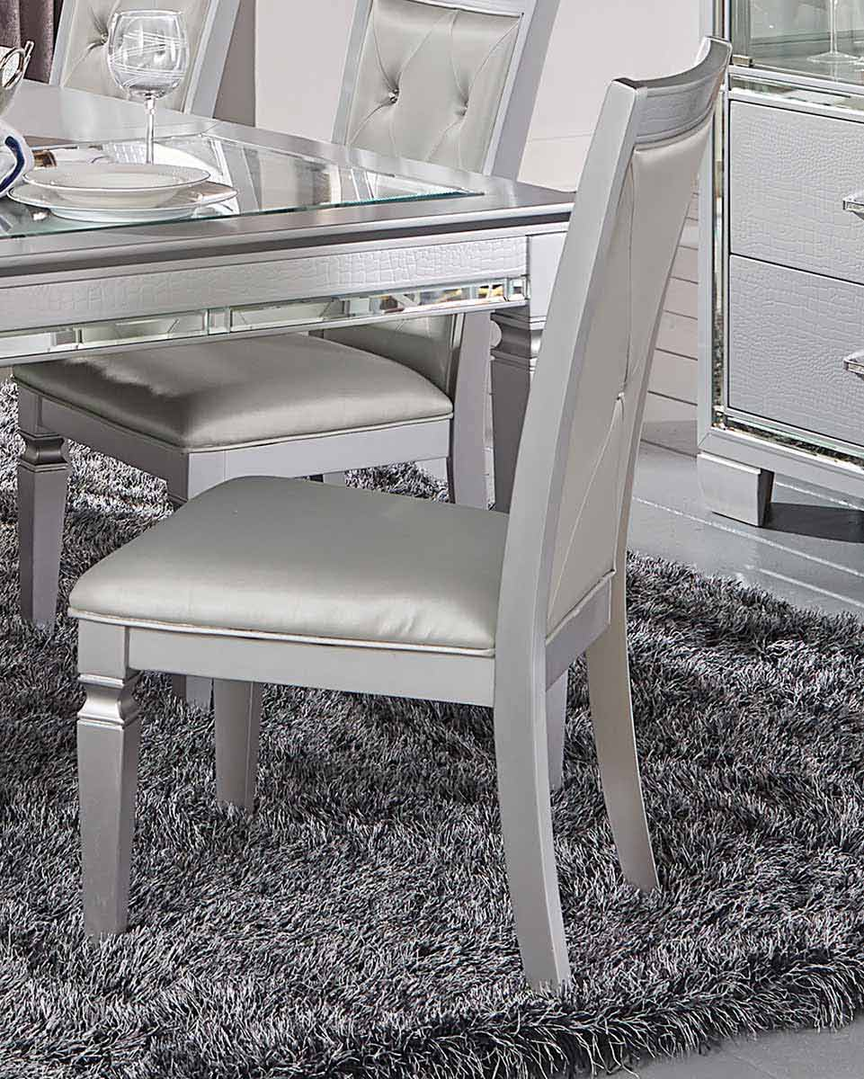 Homelegance Allura Side Chair - Silver
