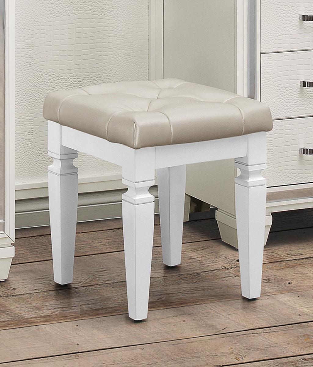 Homelegance Allura Vanity Stool - White