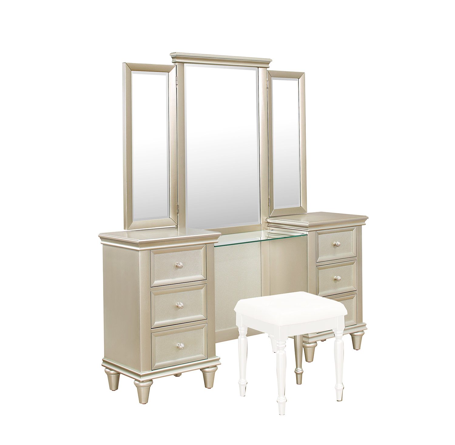 Homelegance Celandine Vanity Dresser with Mirror