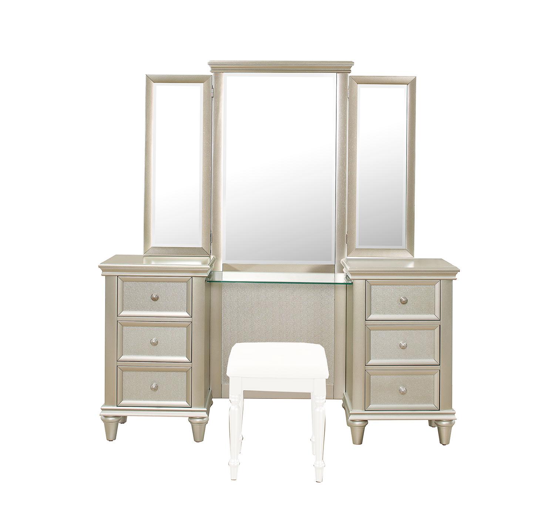 Homelegance Celandine Vanity Dresser with Mirror
