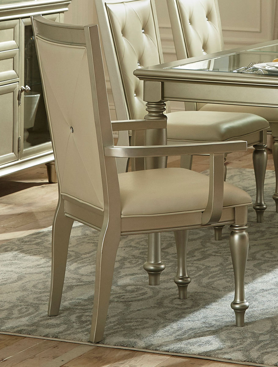 Homelegance Celandine Arm Chair - Silver