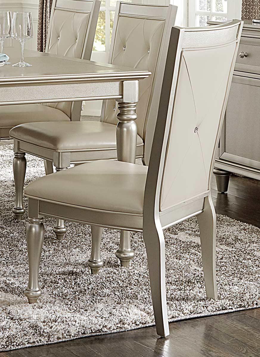 Homelegance Celandine Side Chair - Silver