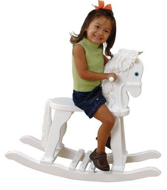 KidKraft Derby Rocking Horse - White