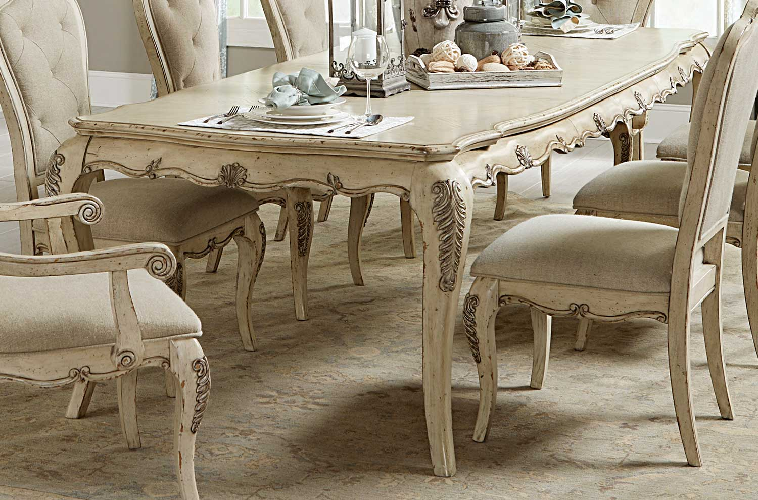 Homelegance Elsmere Dining Table - Antique Grey
