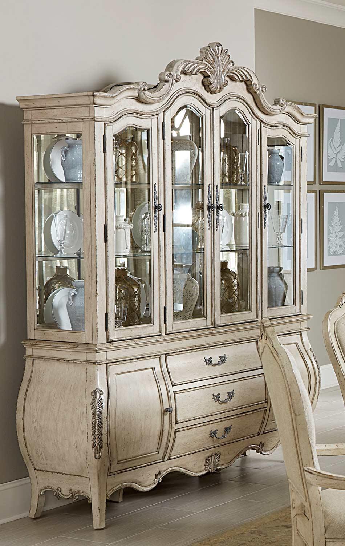 Homelegance Elsmere China Cabinet - Antique Grey