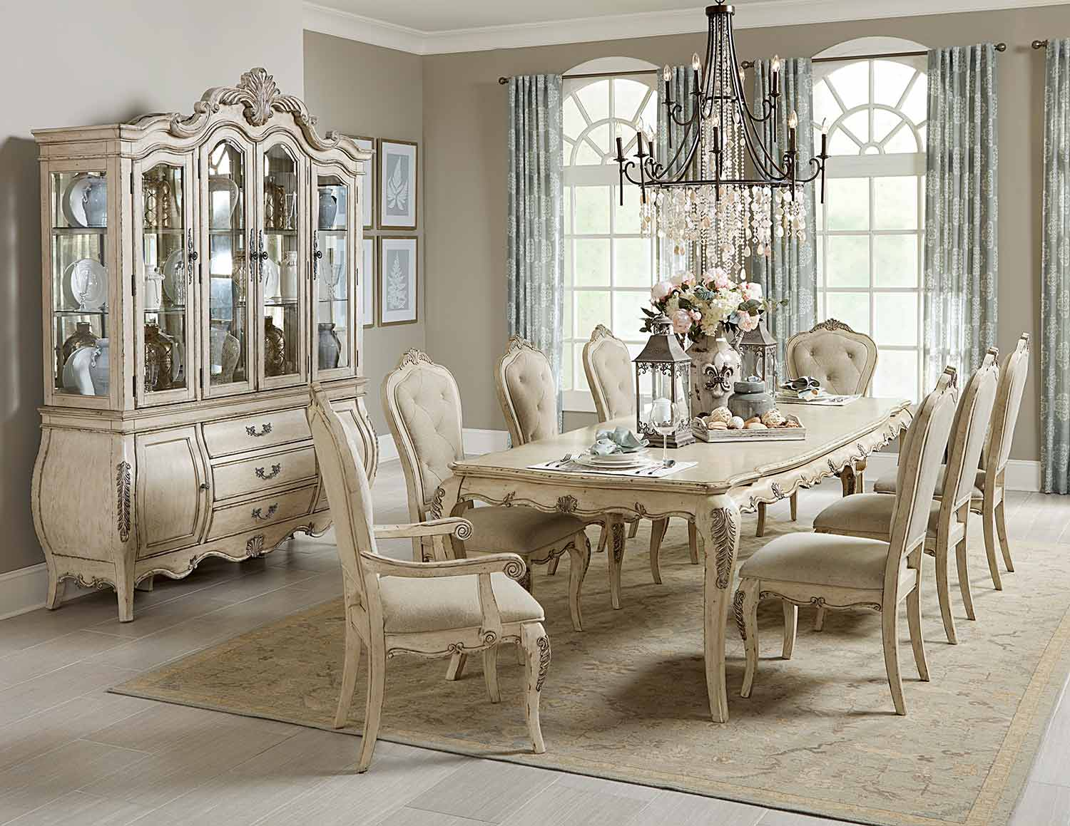Homelegance Elsmere Dining Set - Antique Grey