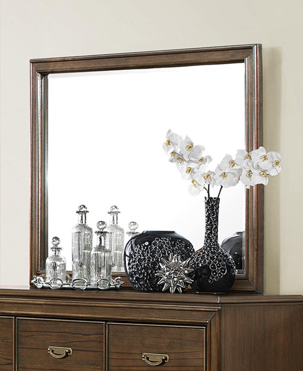 Homelegance Leavitt Mirror - Brown Cherry