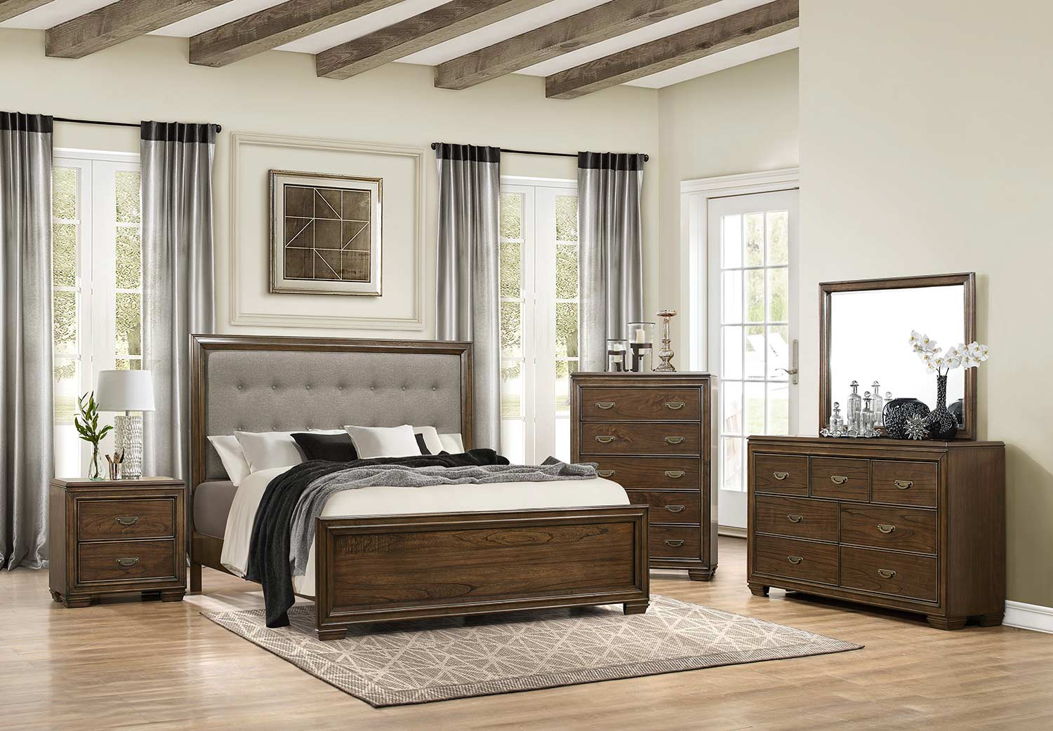 Homelegance Leavitt Bedroom Set - Brown Cherry