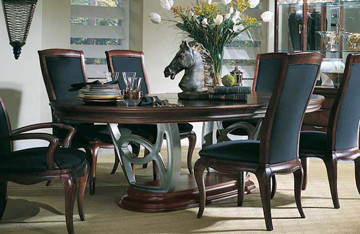 American Drew Advocate Double Pedestal Dining Collection ...