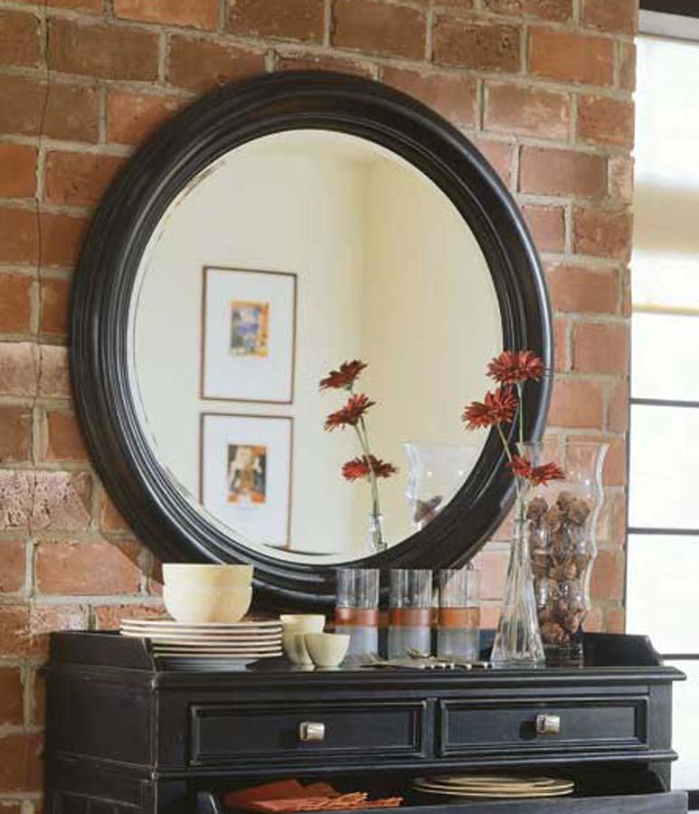 American Drew Camden Dark Round Mirror