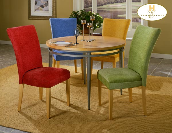 Homelegance Flavors Blueberry Parson Chair with Wood Legs