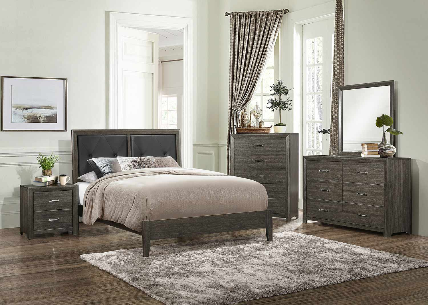 Homelegance Edina Bedroom Set - Brown-Gray