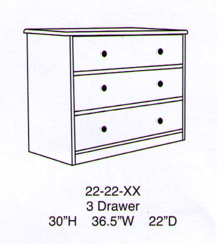 Sierra 3 Drawer Chest-Berg