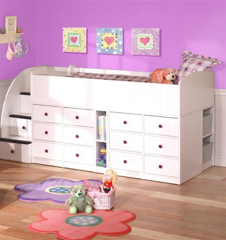 Sierra Captains Bed 12 Drawers with Stairs-Berg